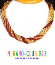Бисерное ожерелье 36 нитей из Муранского стекла