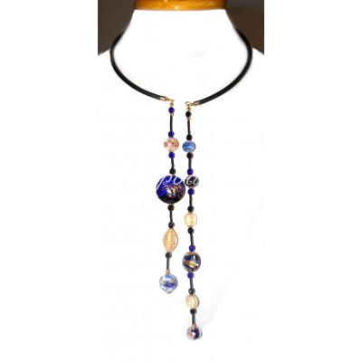 Колье Perla с двумя нитями из муранского стекла