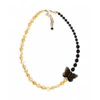 Колье Золотая бабочка из муранского стекла