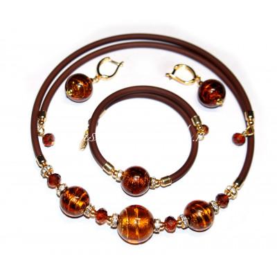 Набор Victoria ambra из муранского стекла