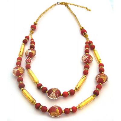 Ожерелье двойное из муранского стекла