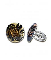 Кольцо тондо люме из Муранского стекла