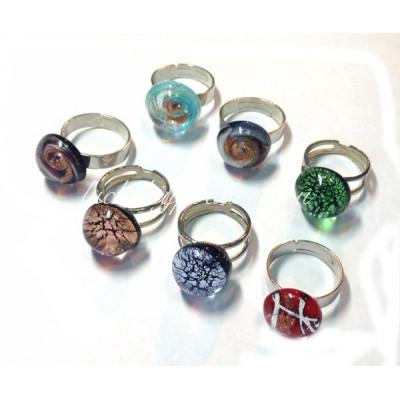 Кольцо перстень люме из муранского стекла