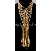 Ожерелье галстук из Венецианского бисера 24 нити