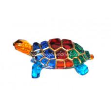 Фигурка черепаха разноцветная из муранского стекла
