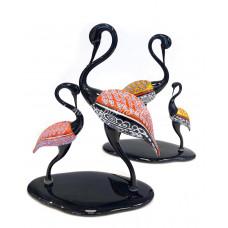 Скульптура Фламинго из муранского стекла