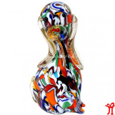 Фигурка Собаки миллефиори из муранского стекла
