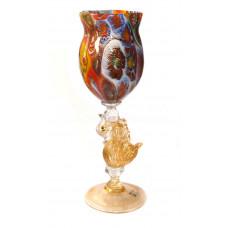 Бокал кубок cigno d'oro  миллефиори из муранского стекла