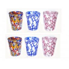 Набор стаканов 6 шт миллефиори из муранского стекла