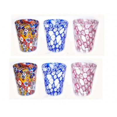 Набор стаканов 6 шт из муранского стекла