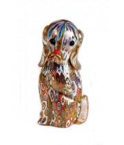 Фигурка Собака миллефиори из муранского стекла