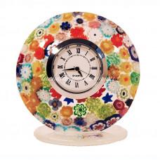 Часы миллефиори круглые из муранского стекла