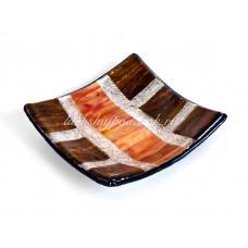 Тарелка из муранского стекла 12х12 см