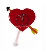 Часы Сердце настенные из муранское стекло