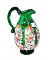 Кувшин фэнтази зеленый из муранского стекла