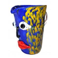 Кувшин Лицо с губами из Муранского стекла
