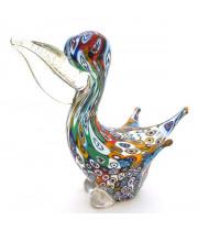 Фигурка Пеликан из Муранского стекла