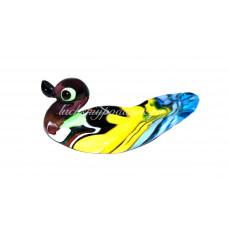 Фигурка утка финикийский стиль муранское стекло