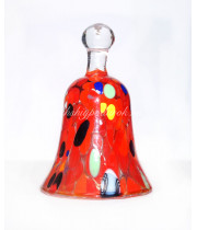 Колокол VENEZIA ROSSO из муранского стекла