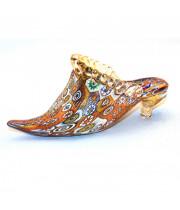 Фигурка туфелька из муранского стекла