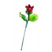 Цветок роза из муранского стекла