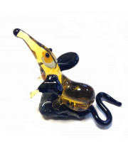 Фигурка стеклянная мышка