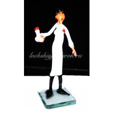 Фигурка врача проктолога из муранского стекла