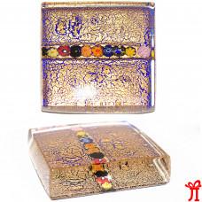 Пресс папье с  сусальным золотом из муранского стекла