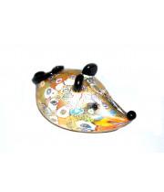 Фигурка мышка миллефиори из муранского стекла