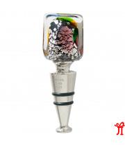 """Пробка для бутылки """" Quadro """" из муранского стекла"""
