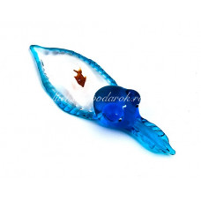 Фигурка аквариум кальмар из муранского стекла