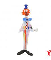Фигурка длинный клоун из муранского стекла