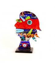 Скульптура голова женщины из муранского стекла