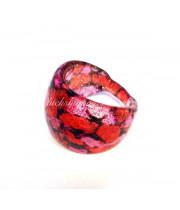 Кольцо Давидэ красное из Муранского стекла
