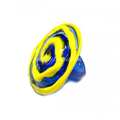 Кольцо Круглое Спираль из муранского стекла