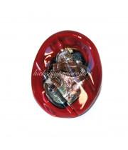Кольцо Grande красное с узором из Муранского стекла