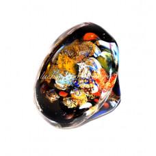 Кольцо Grande Arlecchino плоское с узором из Муранского стекла