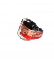 Кольцо квадратное с узором из муранского стекла