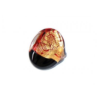 Кольцо Овальное из муранского стекла