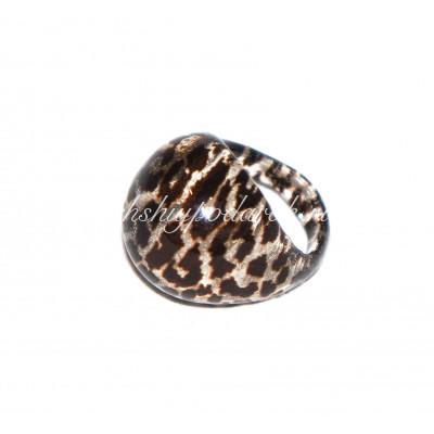 Кольцо Зебратто из муранского стекла