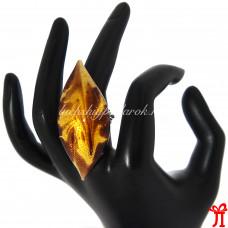 Кольцо лист из Муранского стекла