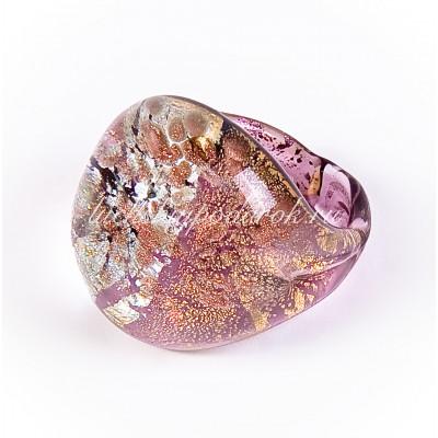 Кольцо Паола с авантюрином из муранского стекла