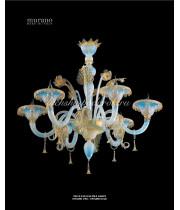 Люстра Opalino Oro из Муранского стекла
