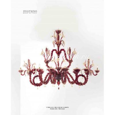 Люстра Rosso Oro из муранского стекла
