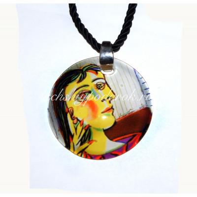Подвеска круглая Donna Sedutta  из Муранского стекла