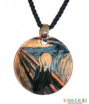 Подвеска круглая Ван Гог из муранского стекла