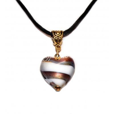 Подвеска Сердце Фабио люме из муранского стекла