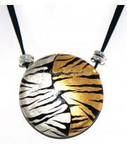 Колье тигратта воздушная из муранского стекла
