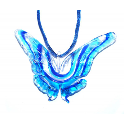 Подвеска бабочка большая из муранского стекла