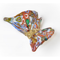 Фигурка бабочка миллефиори из муранского стекла